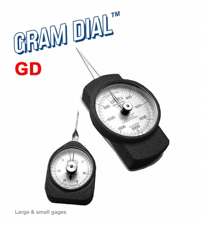 25 grams Graduation +//- 0.01 Accuracy Jonard GD-100 Round Tip Large Force Gauge 100-1000 grams Dial Display
