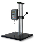 The Wagner Force Test FTK 100 test stand provides smooth movement and precise alignment with a rugged rack and pinion lever elevating mechanism traveling on two guide posts with tight-fitting bushings. This test stand is a portable economy force testing solution for use with our popular FDK and FDI Series force measurement gages.