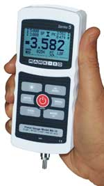The Mark-10 M5 digital force gauge replaces the BG series adding many new features.